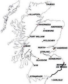Scotland Blank Map by Symbols Of Scotland Maps
