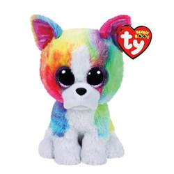 ty beanie boo small isla rainbow bulldog soft toy claire