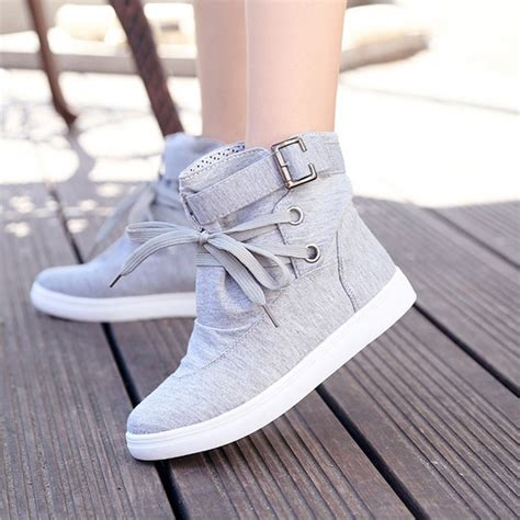 Flatshoes Casual Grey Murah 1 grey toe flat casual ankle canvas shoes flats shoes