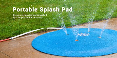 how to build a backyard splash pad portable splash pad spray and play features by my splash pad