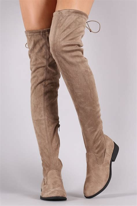taupe the knee suede boots vinci the knee suede boots taupe daily chic