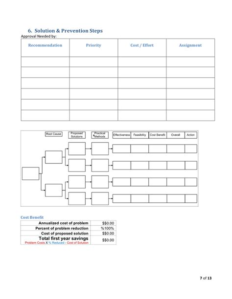 Problem Analysis problem analysis template in word and pdf formats page 7
