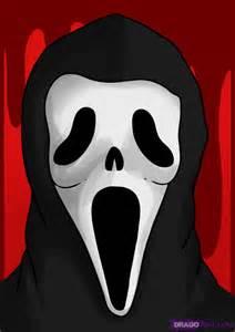 How to draw scream step by step halloween seasonal free online