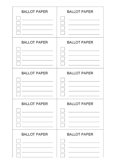 free ballot template printable voting ballot template car interior design