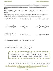 solving two step inequalities worksheet virallyapp