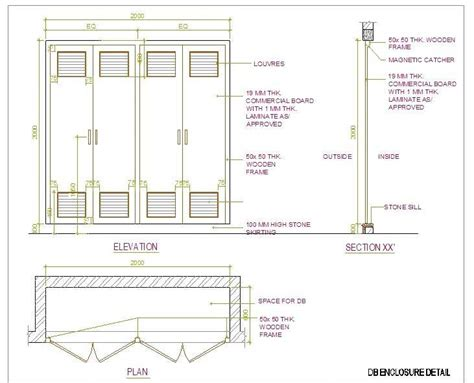 electrical distribution board cabinet detail plan n design