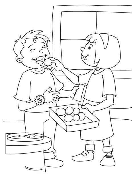 free coloring pages raksha bandhan coloring pages