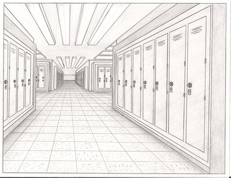 Drawing 1 In College by Lockers On A School Hallway By Thealjavis On Deviantart