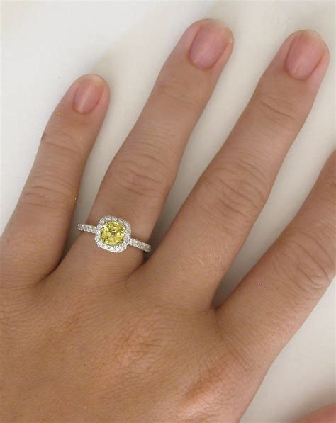 Lemon Sapphire Sertifikat yellow sapphire ring halo rings with yellow