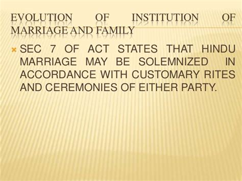Section 19 Hindu Marriage Act by Concept And Nature Of Marriage
