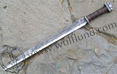 LONG ANGLO SAXON SCRAMASAX, forged battle ready replica   wulflund.com