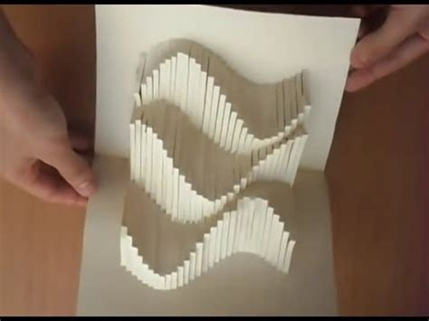 paper card wave template 15 pop up amazing waves card tutorial origamic