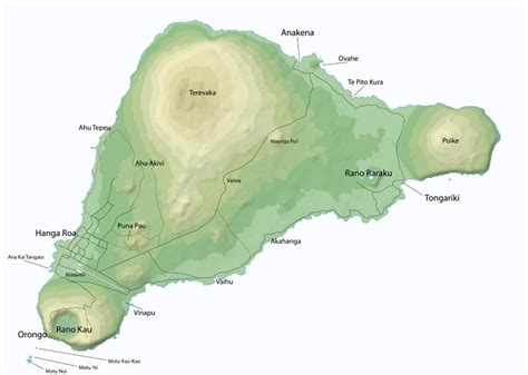 easter island map easter island map