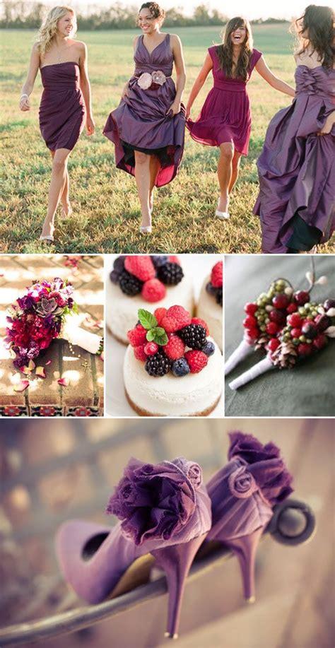Sangria Colored Wedding Decorations by Wedding Colors Berry Plum Sangria Purple Wedding