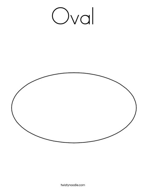 free coloring pages of oval shape