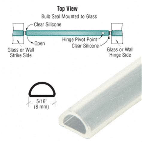 Glass Shower Door Seals And Sweeps S1lb Bulb Seal Frank S Glass Service Inc