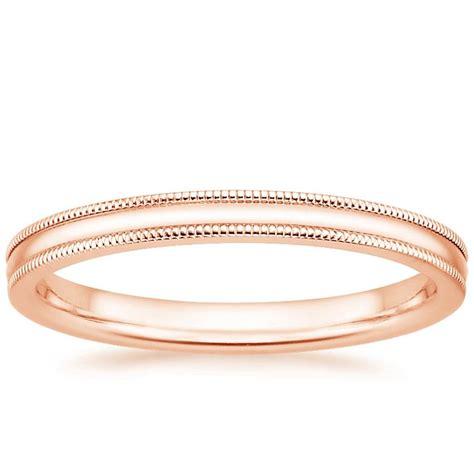 Wedding Band Milgrain by 2mm Milgrain Wedding Ring In 14k Gold