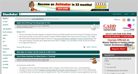 news for nerds stuff that matters list of top 20 social bookmarking arunace