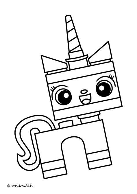 lego kitty coloring pages coloring page for kids lego unikitty http letsdrawkids