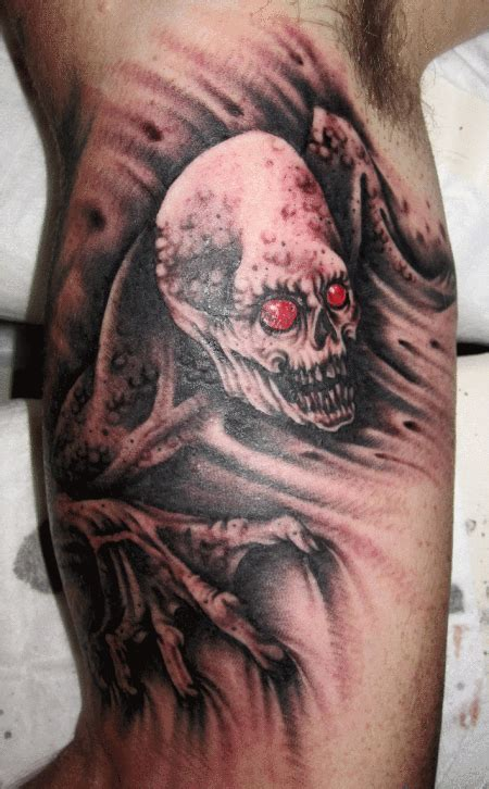 black and grey zombie tattoo mark lonsdale tattoo bondi sydney zombie ghoul mark lonsdale