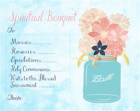 christian study tools  art spiritual bouquet gift card  printables