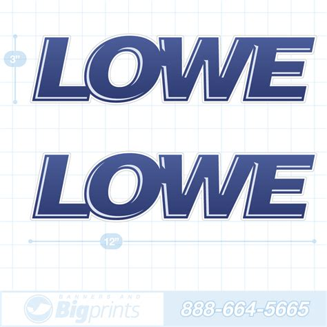 lowe boats decals lowe boat decals navy blue glossy sticker package