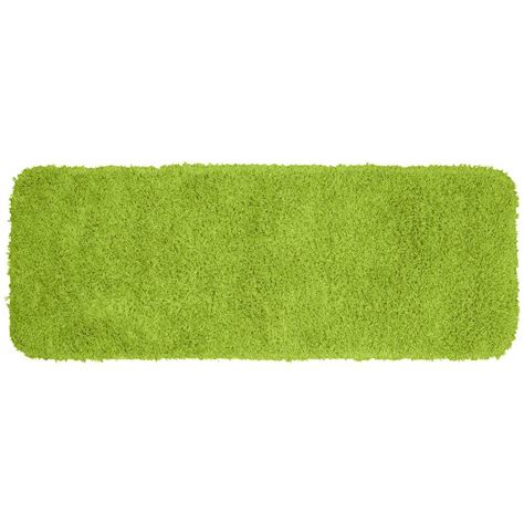 green bath rugs garland rug jazz lime green 22 in x 60 in washable bathroom accent rug ben 2260 12 the home
