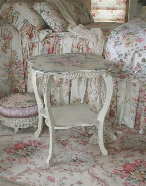 shabby chic bedside table purple pink pinterest
