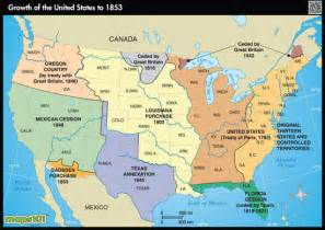 expansion of us to 1853 by maps from maps world