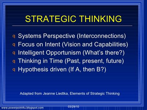 Strategic Mindset Strategic Thinking