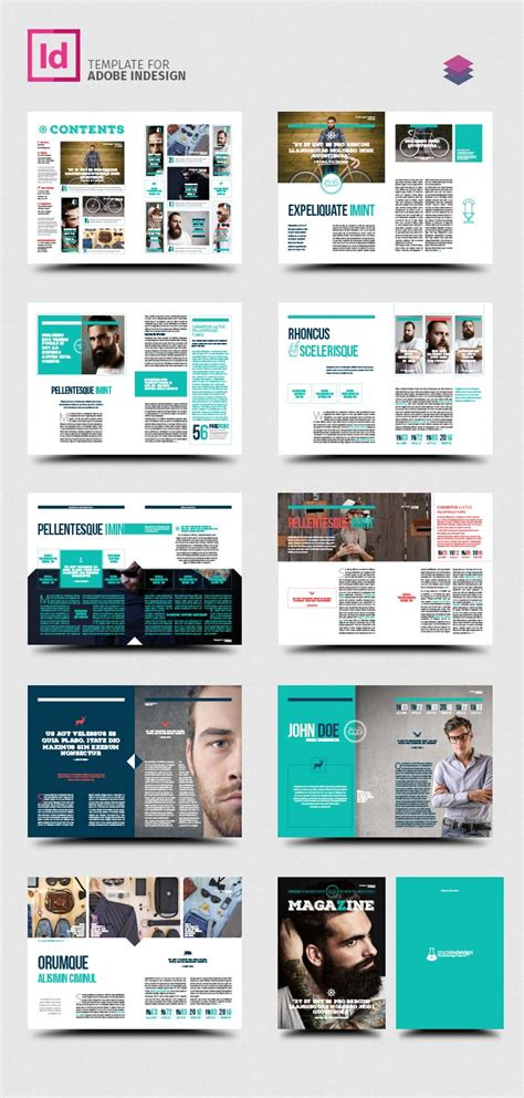 layout revista indesign download free rustic magazine template stockindesign