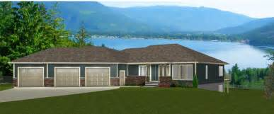 Ranch House Plans With Walkout Basement bungalows 60 plus ft by e designs 9