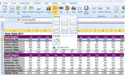 how to create a chart using excel 2010