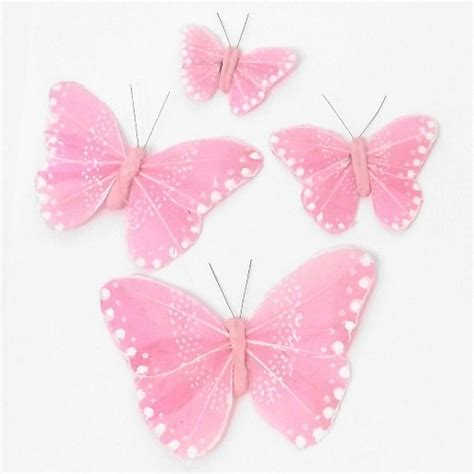 pink butterfly light butterflies birds clip on butterflies feather clip on