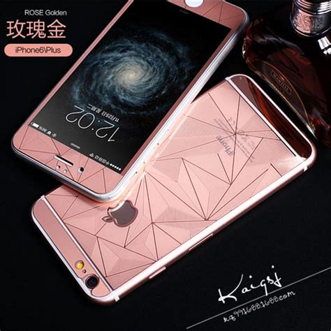 3d gold mirror tempered glass screen