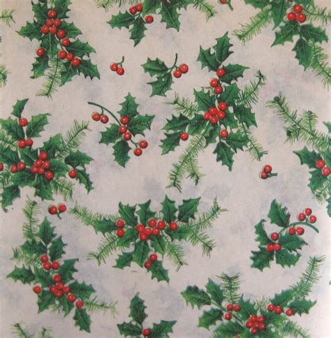 vintage christmas wrapping paper holiday gift wrap christmas