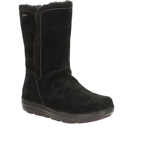 clarks nelia net gtx women s boots in black suede from