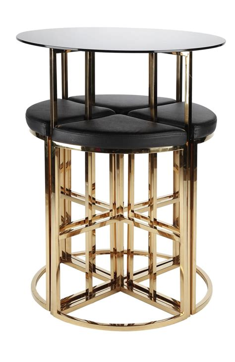 lounge bar stools onyx gold poseur table 4 bar stools for event hire