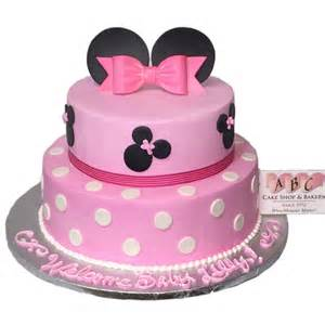 1958 2 tier minnie mouse baby shower cake abc cake shop amp bakery
