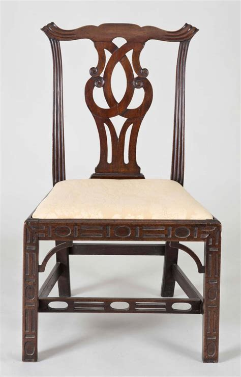 chinese chippendale side desk chair at 1stdibs georgian chinese chippendale side chair circa 1760 for