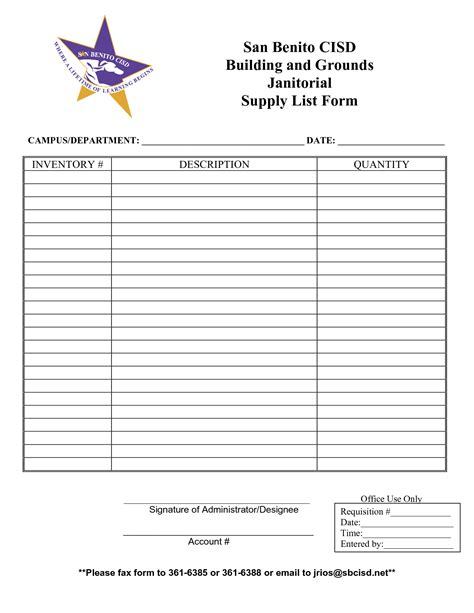 supply list template best photos of supply inventory sheet printable free