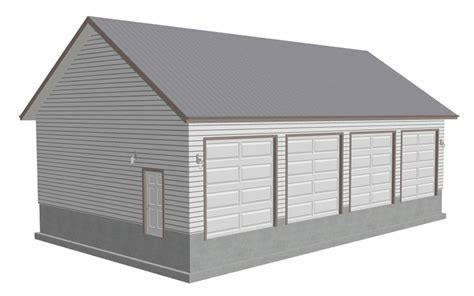 4 car detached garage designs images ez garage plans