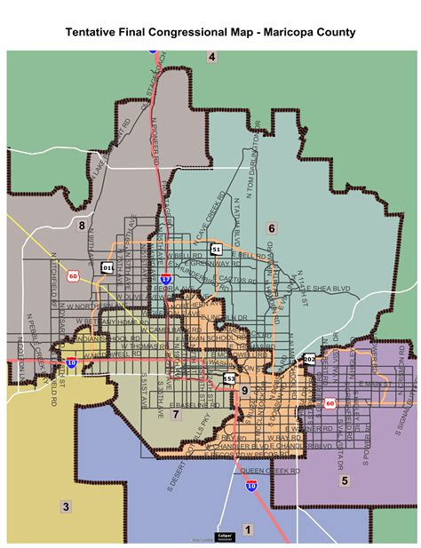us congressional district map arizona tentative maps