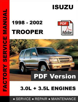 service and repair manuals 1997 isuzu trooper auto manual 1998 2002 isuzu trooper workshop service repair manual