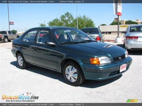 1995 Toyota Tercel Dx 1995 Toyota Tercel Dx Sedan Green Metallic Gray
