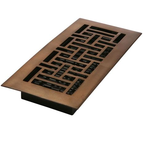 Rubbed Bronze Floor Registers by Decor Grates 2 In X 12 In Steel Rubbed Bronze