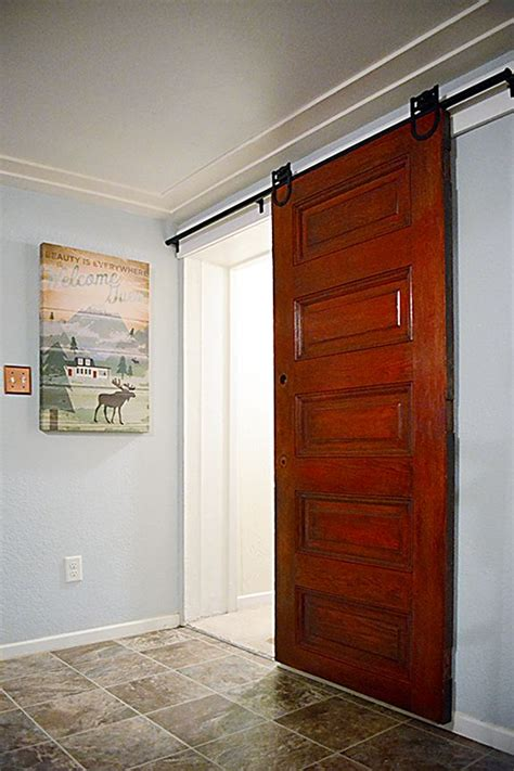 Rolling Barn Doors In Action Sliding Barn Doors Master Roller Doors Interior