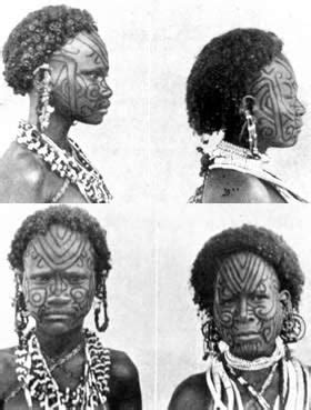 maisin women were tattooed by close female relatives