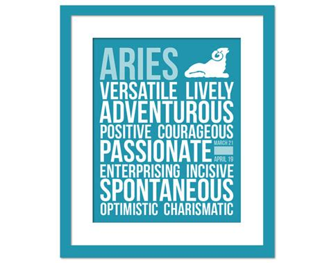 aries personality character traits subway art by