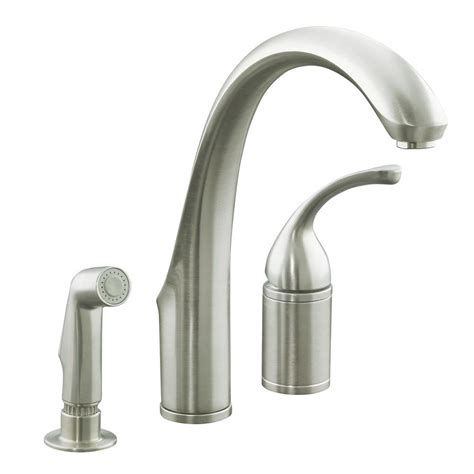 brushed nickel single handle kitchen faucet kohler forte single handle standard kitchen faucet with